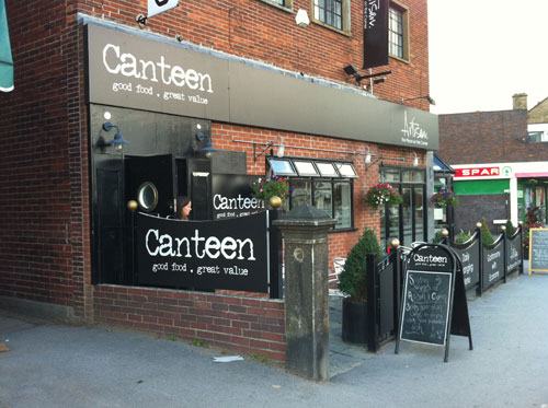 Canteen/Artisan restaurant on Sandygate Road