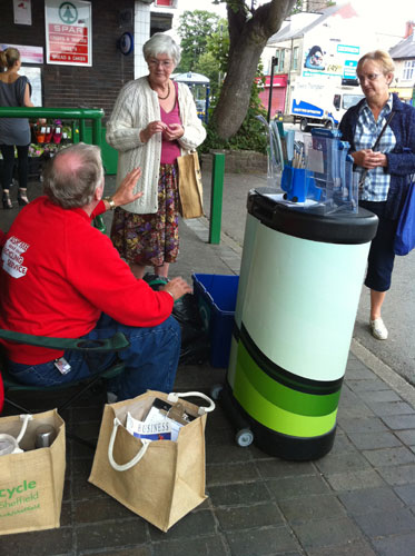 The Veolia recycling roadshow outside Spar today