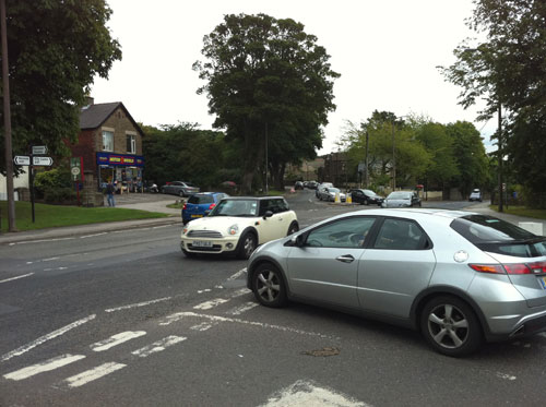 Manchester Road/Lydgate Lane/Sandygate Road junction in Crosspool