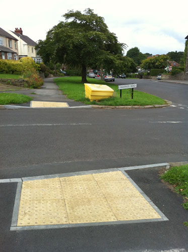 Dropped curbs installed on Cardoness Road