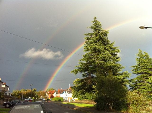 Double rainbow over Crosspool, 23 August 2010