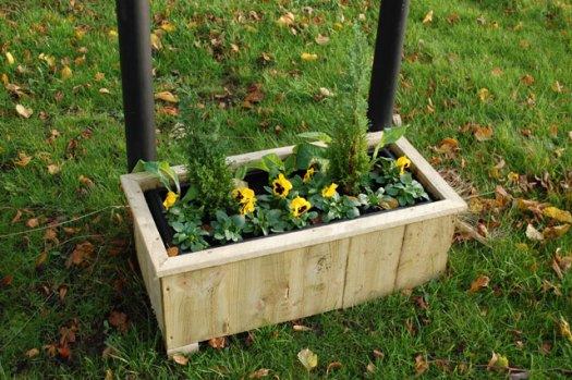 New Welcome to Crosspool flower box on Manchester Road