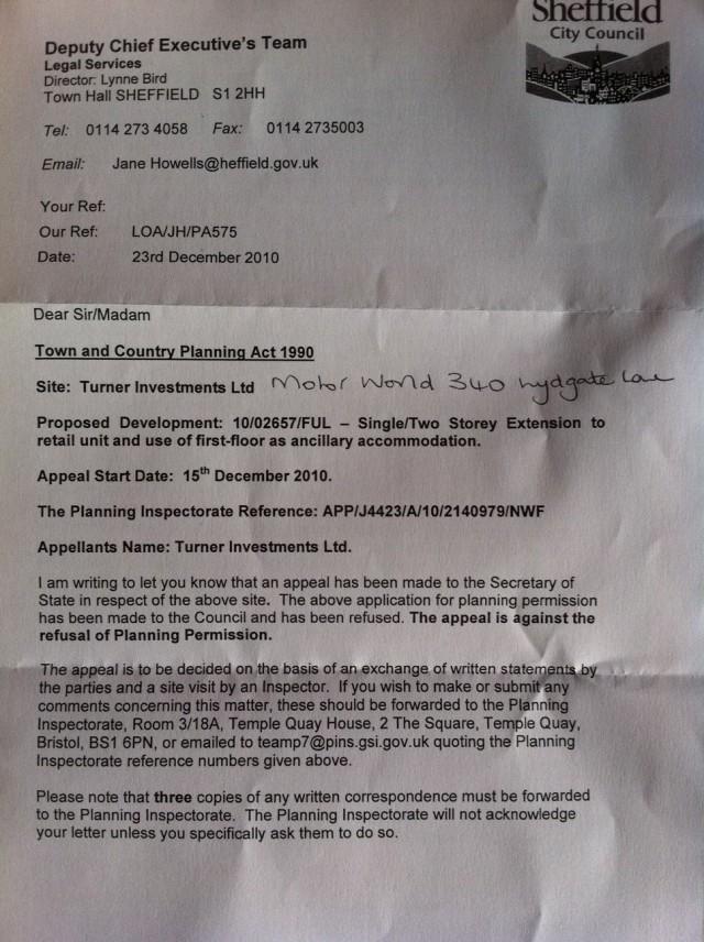 Appeal letter
