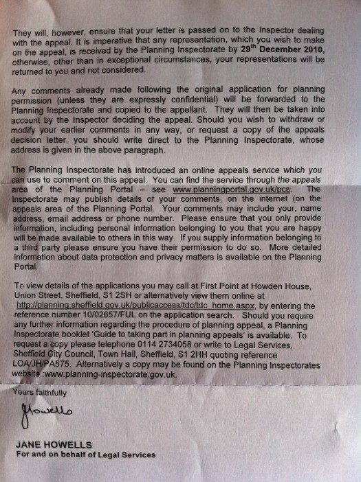 Appeal letter page 2