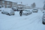 Digging out a car, Crosspool, 1 December 2010