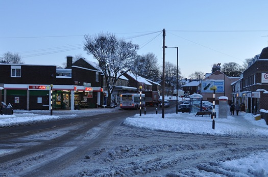 Crosspool in the snow, December 2010