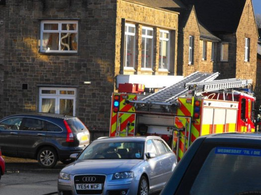 Fire engine on Selbourne Road