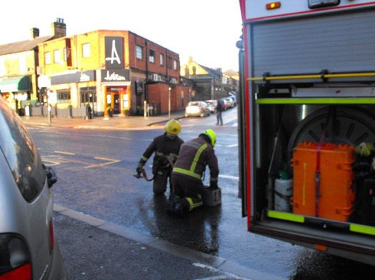 Fire in Crosspool precinct - January 2011