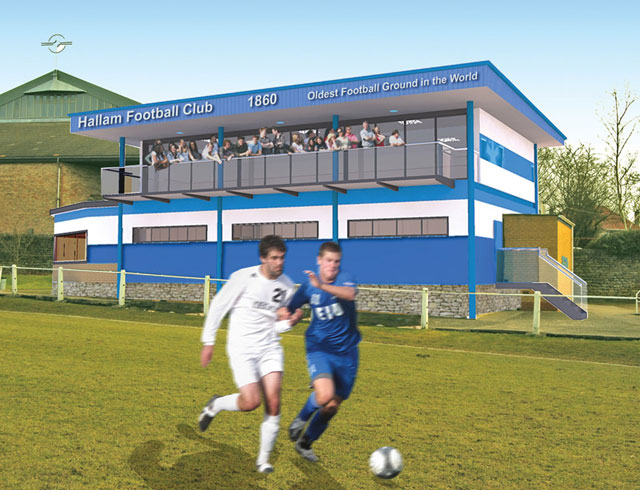 Hallam FC Sandygate clubhouse proposed renovation