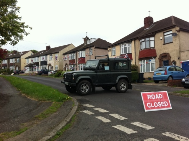 Cardoness Road was part-closed for the royal wedding street party