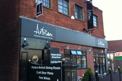 Artisan restaurant, Crosspool: now on both floors