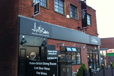 Artisan restaurant, Crosspool: now on both floors