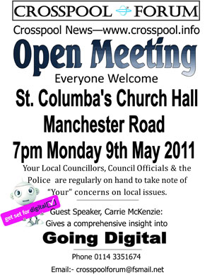 Crosspool Forum Open Meeting, Monday 9 May 2011