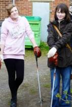 Enthusiastic young people join in Crosspool's Spring Clean