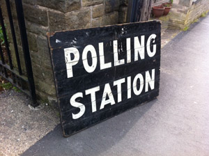 Stephen Hill church polling station in Crosspool