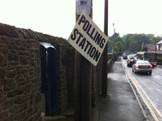 Sandygate polling station in Crosspool
