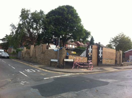 Demolition of the Hallamshire Hotel on Lydgate Lane