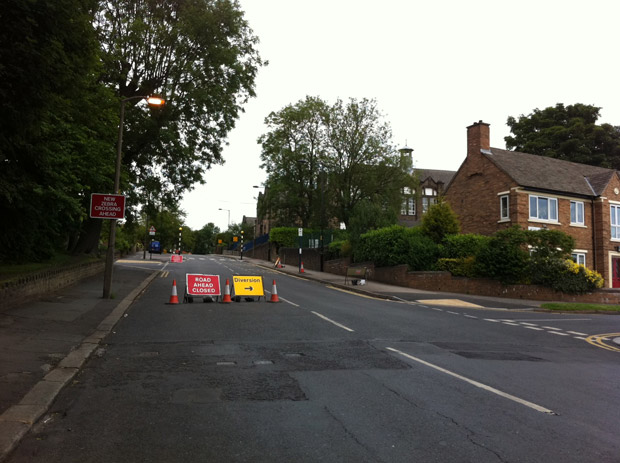 Lydgate Lane: closed due to burst water main