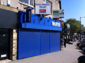 Sandygate Road empty off licence unit