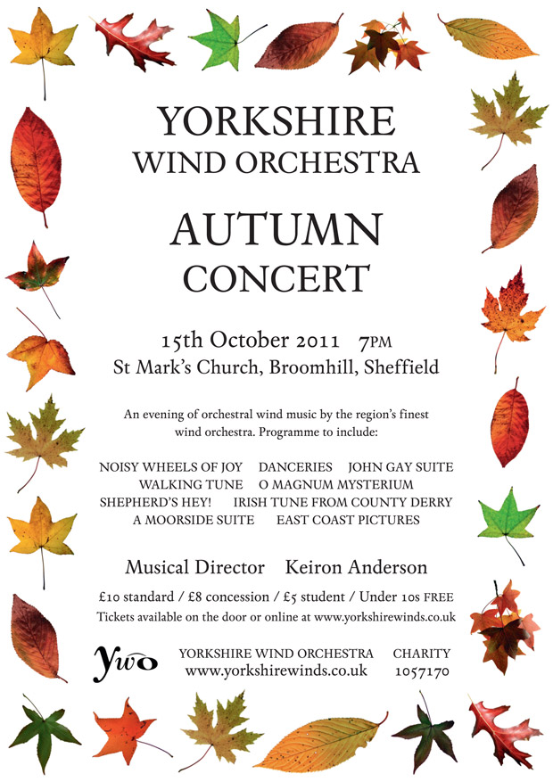 Yorkshire Wind Orchestra Autumn Concert in Broomhill