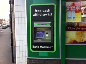 The cash machine in Crosspool precinct