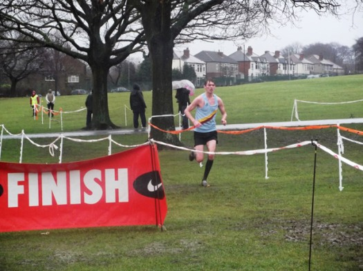 Crosspool's James Gray winning the South Yorkshire Championship