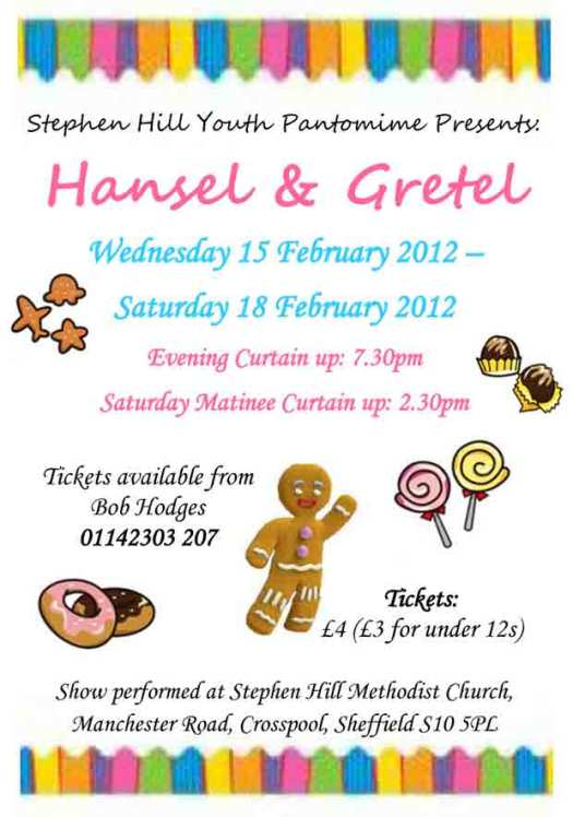 Get your tickets now for the Stephen Hill pantomime Hansel and Gretal