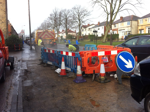 Water leak repairs on Manchester Road