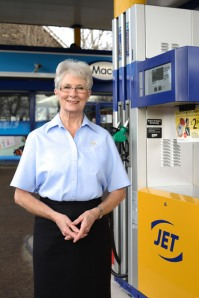 Val Taylor from Crosspool's Jet petrol station