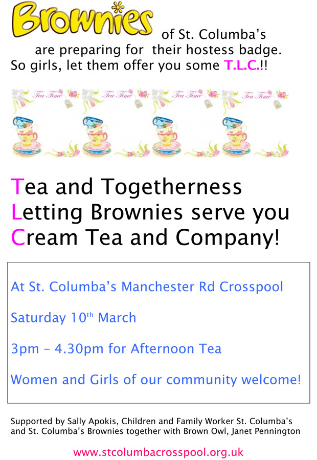 Crosspool Brownies offer cream teas and company this weekend