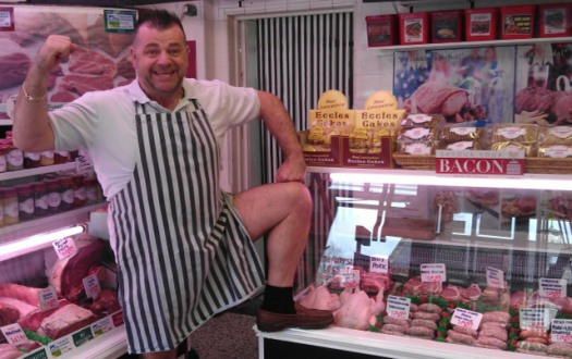 Crosspool butcher Philip James is having his legs waxed to raise money!