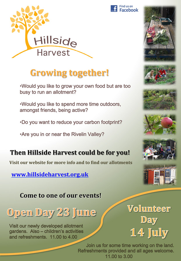 Hillside Harvest open day and volunteer day, summer 2012