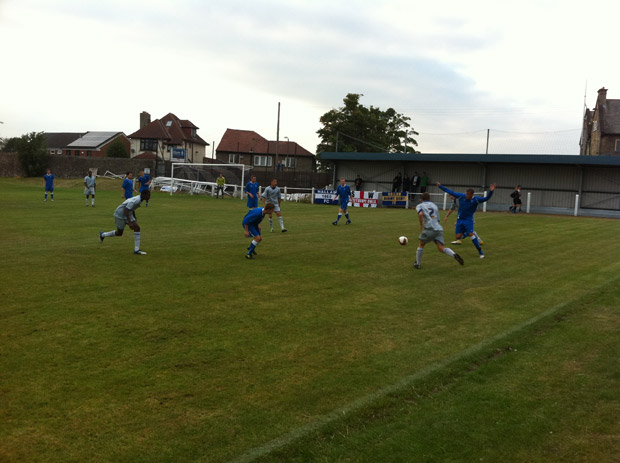 Hallam FC beat a SWFC XI 3-2 in August 2011