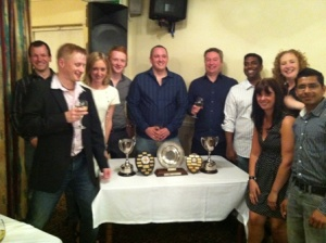 Players from Ranmoor Badminton Club pick up their awards