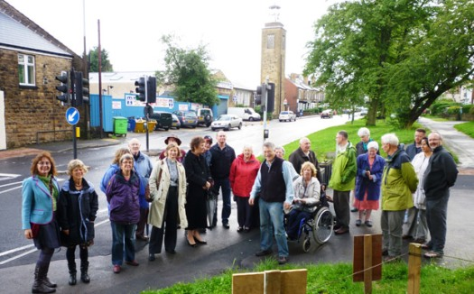 Group at the well dressing dedication