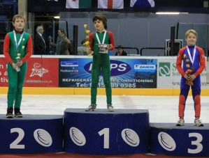 Harry on the podium