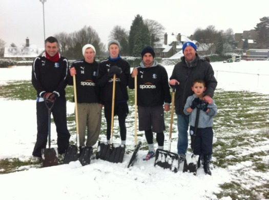 Clearing snow at Sandygate