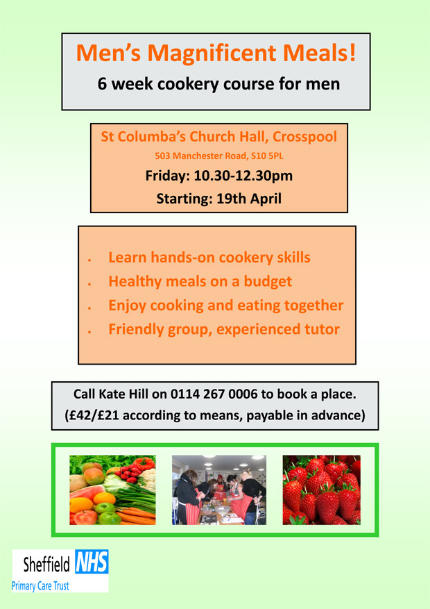 Magnificent Meals for Men at St Columba's, CrosspoolMagnificent Meals for Men at St Columba's, Crosspool