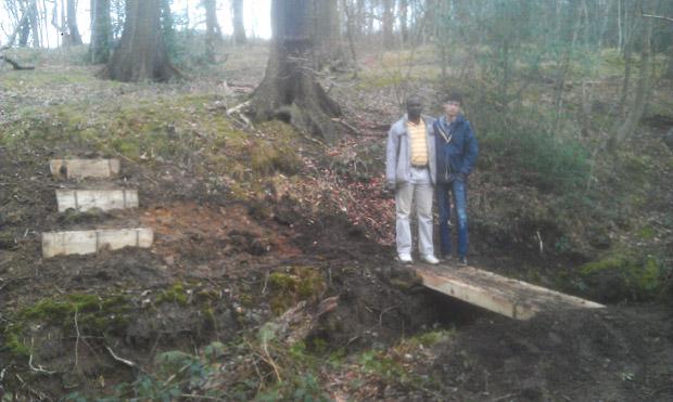 Hillside Harvest open day: building a bridge