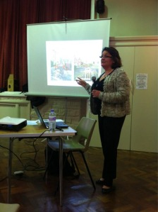 Moira Coad from Amey talks about the Streets Ahead project at the Open Meeting