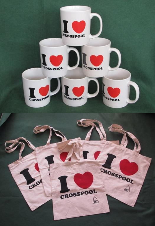 I Love Crosspool mugs and bags