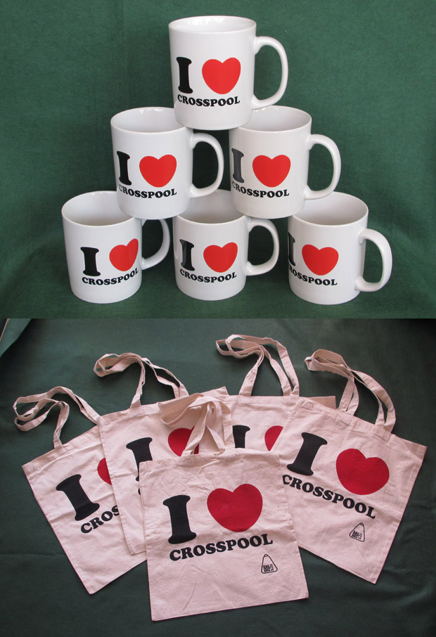 I Love Crosspool mugs and bags