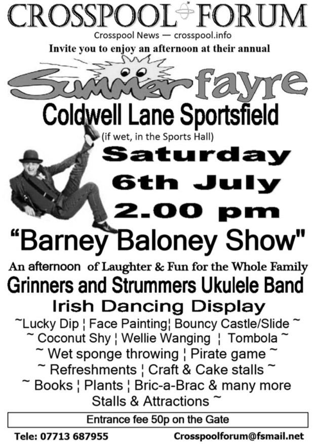 Crosspool Summer Fayre, Saturday 6 July 2013