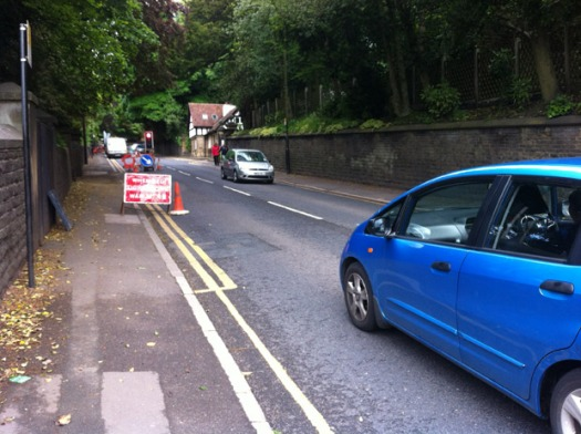 Delays for motorists on Manchester Road