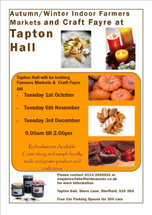 Tapton Hall farmers markets