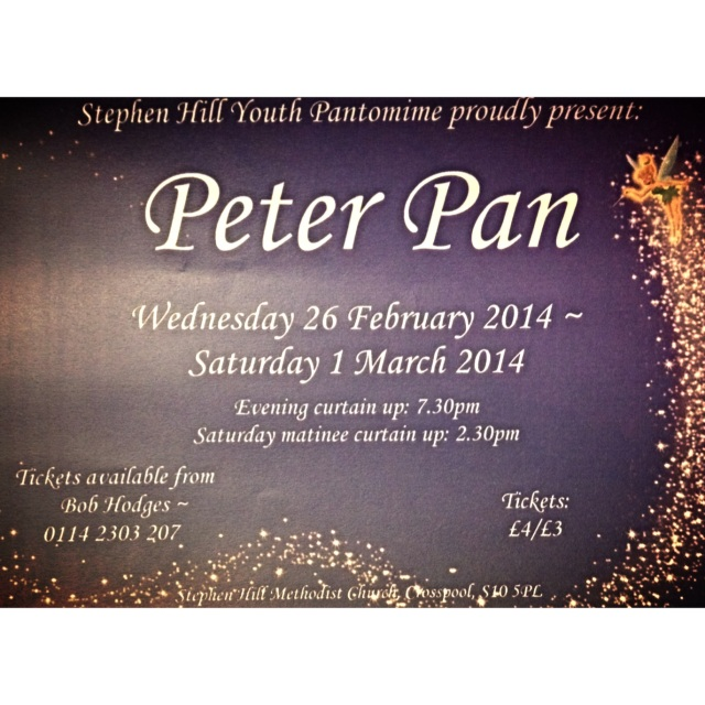Peter Pan Stephen Hill panto