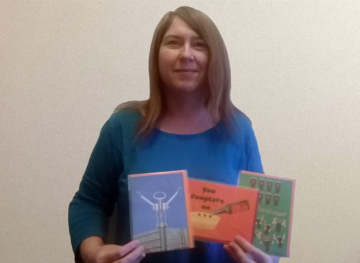 Crosspool's Kate Webster with her Tipsy Towers cards