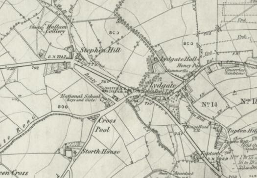 Map of Crosspool, circa 1850