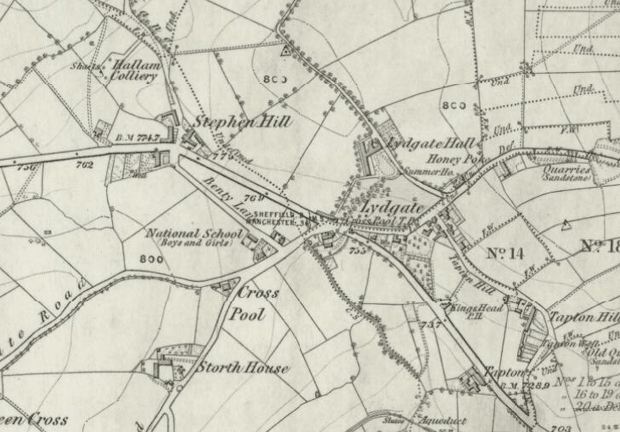 Map of Crosspool, circa 1850