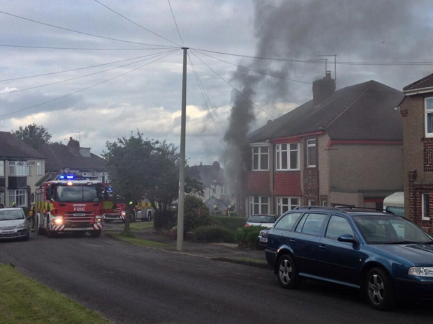 House fire on Cardoness Road